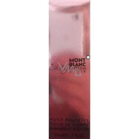 Montblanc Lady Emblem Elixir třpytivý tělový olej pro ženy 50 ml