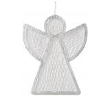 Emocio Angel candle white-silver 95 x 30 x 120 mm