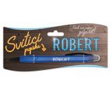 Nekupto Svítící propiska se jménem Robert, ovládač dotykových nástrojů 15 cm