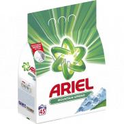 Ariel Mountain Spring prací prášek pro čisté a voňavé prádlo bez skvrn 45 dávek 3,375 kg