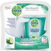 Dettol Svěžest okurky bezdotykový dávkovač mýdla, strojek + antibakteriální náplň s mýdlem 250 ml