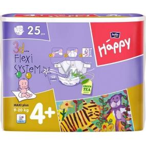 Bella Happy 4+ Maxi Plus 9-20 kg plenkové kalhotky 25 kusů
