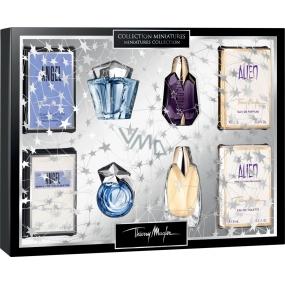 Thierry Mugler Angel/Alien Miniatures Collection Angel parfémovaná voda 5 ml + Angel toaletní voda 3 ml + Alien parfémovaná voda 6 ml + Alien Eau Extraordinaire toaletní voda 6 ml, dárková sada