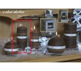Lima Aura Skořice vonná svíčka hnědá válec 60 x 120 mm 1 kus