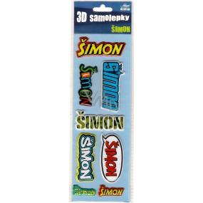 Nekupto 3D Samolepky se jménem Šimon 8 kusů 069