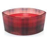 WoodWick Crimson Berries - Červené bobule vonná svíčka s dřevěným širokým knotem a víčkem sklo loď 453 g Holiday limitid 2018
