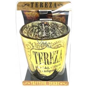 Albi Třpytivý svícen ze skla na čajovou svíčku TEREZA, 7 cm