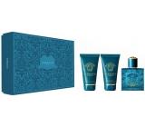 Versace Eros pour Homme toaletní voda pro muže 50 ml + sprchový gel 50 ml + balzám po holení 50 ml, dárková sada