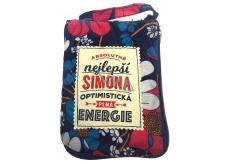 Albi Skládací taška na zip do kabelky se jménem Simona 42 x 41 x 11 cm