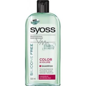 Syoss Color & Volume Silicone Free šampon na vlasy bez silikonů 500 ml