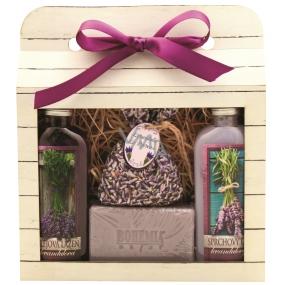 Bohemia Gifts & Cosmetics Lavender La Provence sprchový gel 100 ml + Olejová lázeň 100 ml + Mýdlo 100 g + bylinky levandule v sáčku 1 kus, kosmetická sada