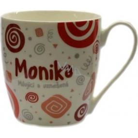 Nekupto Twister hrnek se jménem Monika červený 0,4 litru