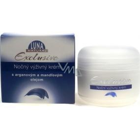 Luna Natural Exclusive noční výživný krém s arganovým a mandlovým olejem pro normální až suchou pleť 50 ml