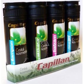 Capillan vlasový aktivátor 200 ml + vlasový šampon 200 ml + vlasový balzám 200 ml + sprchový gel 200 ml, kosmetická sada
