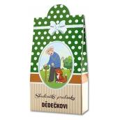 Bohemia Gifts & Cosmetics Pro dědečka Pralinky z mléčné a hořké čokolády s náplní se smetanou a Irish whiskey 100 g