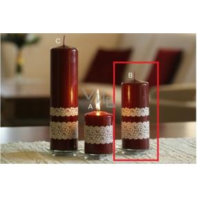 Lima Krajka svíčka vínová 60 x 150 mm 1 kus