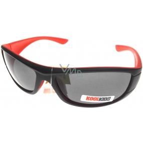 Dudes & Dudettes Sluneční brýle pro děti černo-oranžové JK4400