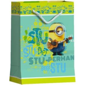 BSB Disney Dárková papírová taška dětská 22,9 x 17,5 x 9,8 cm Mimoni DT M