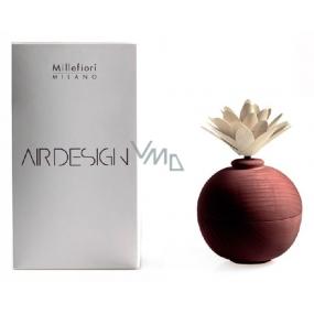 Millefiori Milano Air Design Difuzér nádobka pro vzlínání vůně pomocí porézní vrchní části dřevěný s květinou Červená koule
