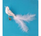 Skleněný ptáček 16 cm