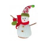 Sněhulák s botičkou na postavení 15 cm
