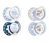 Lovi Night & Day Šidítko silikonové dynamické modré pro děti 3-6 měsíců 2 kusy