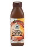 Garnier Fructis Smoothing Macadamia Hair Food hydratační šampon pro hladký účes na suché, nepoddajné a krepaté vlasy 350 ml