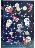 Albi Blok svítící linkovaný Zvířátka astronauti 20,9 x 14,6 x 2 cm