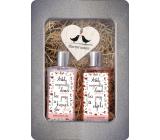 Bohemia Gifts Šťastný domov sprchový gel pro ženy 250 ml + šampon na vlasy 250 ml + dřevěné srdce 1 kus, plechový box kosmetické sada