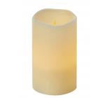 Emos Svíčka LED svítící jantarová, 12,5 x 8 cm