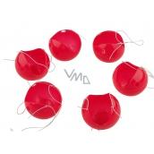 Červený nos, nos klaun, plastové nosy s gumičkou 6 kusů