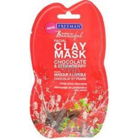 Freeman Feeling Beautiful Čokoláda a Jahody detoxifikační pleťová maska 15 ml