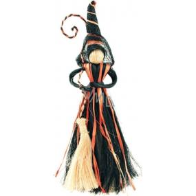 Čarodějnice s černooranžovou sukní 20 cm