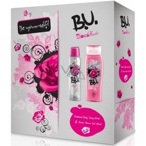 B.U. Rockmantic deodorant sprej 150 ml + sprchový gel 250 ml, pro ženy dárková sada
