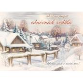 Nekupto Pohlednice Vánoční vzor 4 Krásné prožití V38 PA 15 x 11 cm