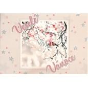Nekupto Pohlednice s glitrem Vánoční vzor 5 Veselé Vánoce V41 PA 15 x 11 cm