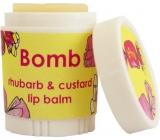 Bomb Cosmetics Rebarborový puding - Rhubarb & Custard Balzám na rty 4,5 g