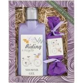 Bohemia Gifts & Cosmetics Riding a bicycle Levandule sprchový gel 250 ml + toaletní mýdlo 30 g, kosmetická sada