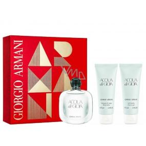Giorgio Armani Acqua di Gioia parfémovaná voda pro ženy 50 ml + sprchový gel 75 + tělové mléko 75 ml, dárková sada