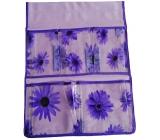 Kapsář na zavěšení fialový 47 x 36 cm 5 kapes 713