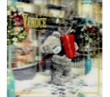 Me to You Blahopřání do obálky 3D Přání k Vánocům, Vánoční medvěd s dárkem 15,5 x 15,5 cm