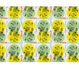 Mimoni Vánoční balicí papír pro děti žluto zelený 2 m x 70 cm