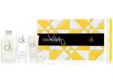 Calvin Klein CK One toaletní voda unisex 200 ml + toaletní voda unisex 15 ml + sprchový gel 100 ml + tělové mléko 200 ml, dárková sada