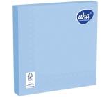 Aha Papírové ubrousky jednobarevné 3 vrstvé 33 x 33 cm 20 kusů světle modré