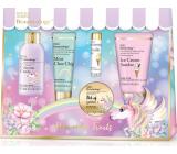 Baylis & Harding Jednorožec koupelové krystalky 70 g + mycí gel 50 ml + sprchový krém 60 ml + krém na ruce 30 ml + balzám na rty 5 g, kosmetická sada