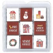 Nekupto Čokoládové puzzle vánoční Domečky 11 x 11,5 x 0,7 cm, 9 x 5 g