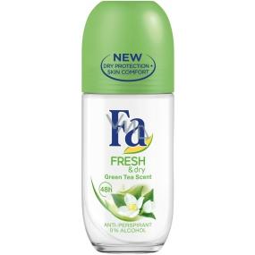Fa Fresh & Dry Green Tea kuličkový antiperspirant deodorant roll-on pro ženy 50 ml