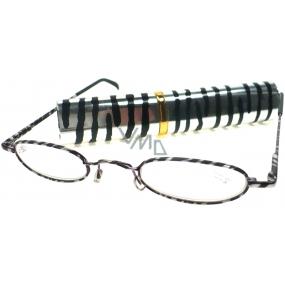 Berkeley Cleopatra čtecí dioptrické brýle +1,50 zebra v pouzdru 1 kus M160