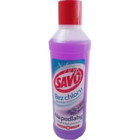 Savo Bez chloru na podlahy Levandule tekutý čistící a dezinfekčí přípravek 1 l