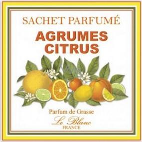 Le Blanc Agrumes Citrus Vonný sáček Citrusy 11 x 11 cm 8 g